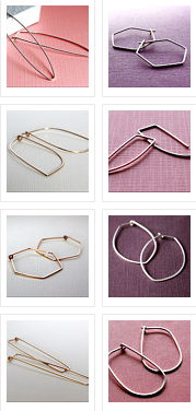 HOOPED jewelry classy contemporary basic earrings at Etsy
