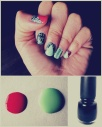 Mint Coral China Glaze black crackle asian makeup artist joelle chan calgary wedding tutorial diy