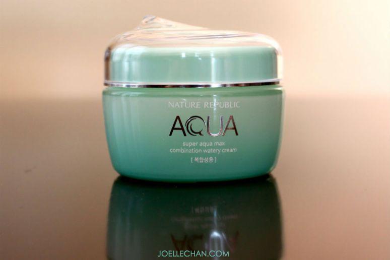 Review Nature Republic Super Aqua Max watery cream combination skin - Korean moisturizer skincare cosmetics - Joelle Chan Makeup Artist Calgary Canada